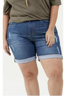Bermuda Feminina Puídos Plus Size Marisa