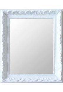 Espelho Moldura Rococó Raso 16376 Branco Art Shop