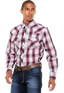 Camisa Wrangler Xadrez Rosa