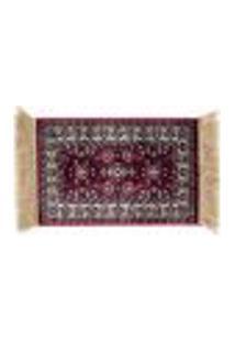 Tapete Quarto Sala Retangular P/Decoração Vermelho 40X60 Cm