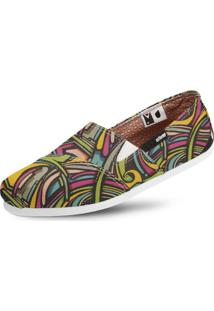 Alpargata Usthemp Slim Vegano Casual Art Candy Multicolorido