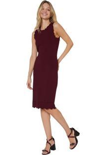 ea8959bd9b Vestido Cinza Marsala feminino