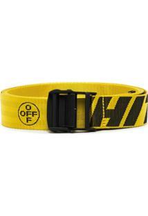 Off-White Cinto Com Logo - Amarelo