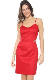 Vestido Mercatto Curto Cut Out Vermelho