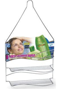 Porta Shampoo Arthi Onda Cromado Prata Unica