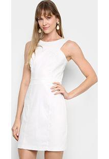Vestido Mercatto Liso - Feminino-Off White