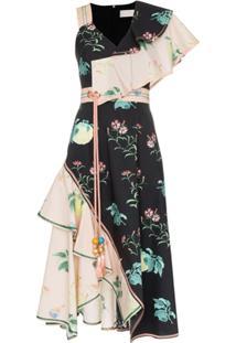 Peter Pilotto Vestido Assimétrico Floral - Multi