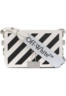 Off-White Mini Diag Flap Bag - Branco