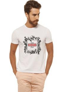 Camiseta Joss - Circus Shutter - Masculina - Masculino-Branco