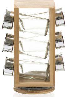 Jogo Porta Condimento Ver Bambu Bege 6Pecas