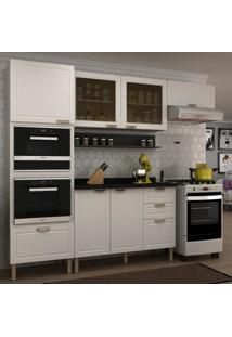 Cozinha Completa 7 Peã§As Americana Multimã³Veis 5912Mf Branco/Grafite - Branco/Incolor - Dafiti