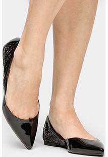 Sapatilha Shoestock Laser Lgt - Feminino-Preto