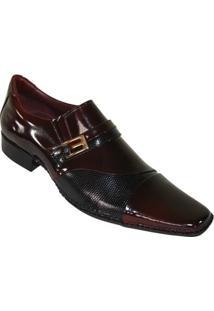 Sapato Social Gofer Premium - Masculino-Vermelho