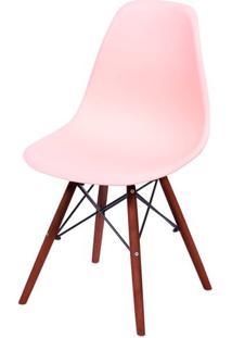 Cadeira Eames Polipropileno Salmao Base Escura - 44840 - Sun House