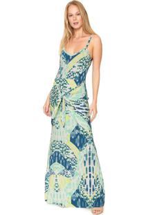 Vestido Enfim Longo Amarraã§Ã£O Verde - Verde - Feminino - Viscose - Dafiti