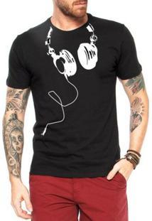 Camiseta Criativa Urbana Fones Divertidas - Masculino