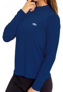 Camiseta Térmica Manga Longa Mprotect Azul Marinho