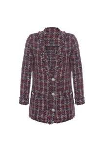 Casaco Feminino Tweed - Vermelho