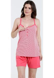 Pijama Feminino Amamentação Alças Finas Marisa