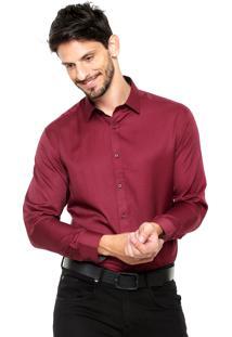 Camisa Vivacci Textura Vinho