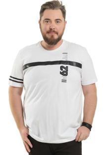 Camiseta Com Recorte Branco Bgo Plus