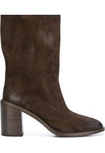Marsèll Ankle Boot De Couro - Marrom