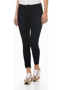 Calça Jeans Super Skinny Barra Dif - Azul Marinho - 34