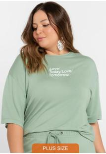 Blusão Com Estampa Verde