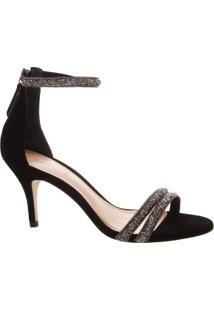 Sandália Kitten Heel Glam Straps Black | Schutz