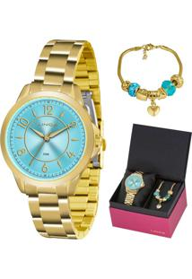 Kit Relógio Lince Feminino Com Pulseira Lrg4504Lku50A2Kx