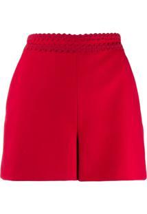 Red Valentino Short Liso - Vermelho