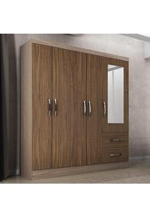 Guarda-Roupa 5 Portas Com Espelho Sevilha Riviera/Malbec - Colibri Móveis