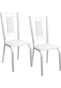 Kit 2 Cadeiras Florença - Kappesberg - Branco