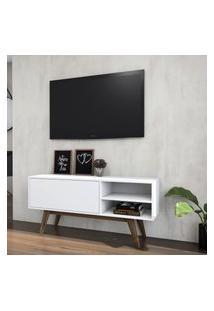 Rack Para Tv 1 Porta Criando Mobilia Ra08 Pés Palito