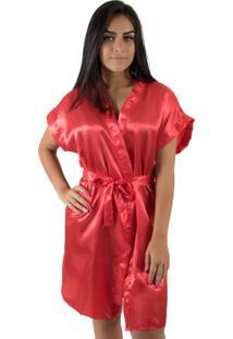 Robe De Cetim 017 Vermelho