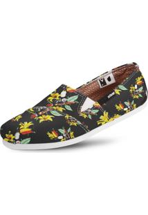 Alpargata Usthemp Slim Vegano Casual Tropical South Preto