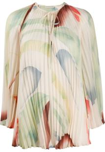 Etro Abstract Blurred Print Blouse - Neutro