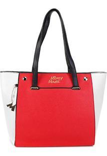 Bolsa Gash Shopper Mickey Feminina - Feminino-Vermelho