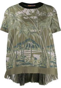Sacai Blusa Com Estampa De Ilha - Verde