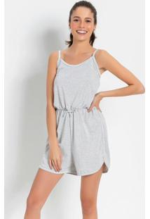 Macaquinho Pijama Listras Branco