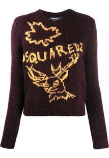 Dsquared2 Suéter De Tricô Com Logo - Vermelho