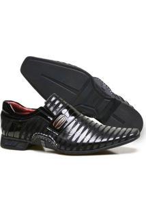 Sapato Social Calvest Couro Nobuck Costuras Manuais Masculino - Masculino-Preto