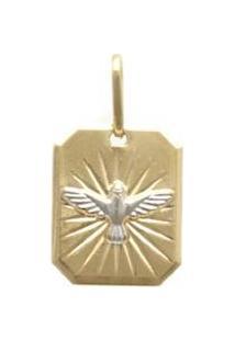 Pingente Ouro Anjo - Unissex-Ouro