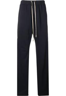 Rick Owens Drkshdw Press Stud Drawstring Trousers - Azul