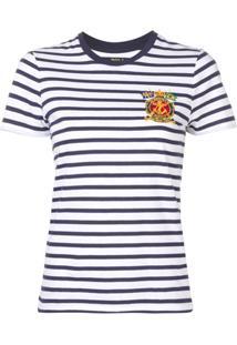Polo Ralph Lauren Camiseta Listrada Mangas Curtas - Azul dd523fc99f4
