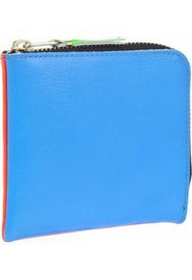 Comme Des Garçons Wallet Carteira De Couro 'Super Fluo' - Azul