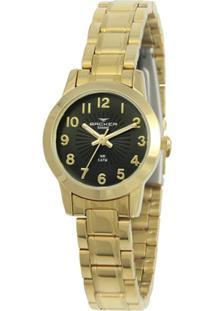 Relógio Feminino Backer Analógico 10260145F - Unissex-Dourado