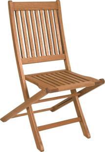 Cadeira Dobrável De Madeira Maciça Ipanema Mestra Móveis Polisten Jatobá