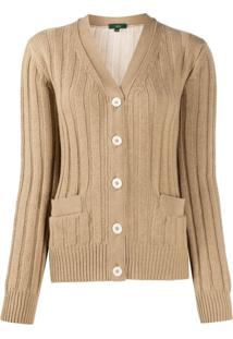 Jejia Ribbed Knit Cardigan - Neutro