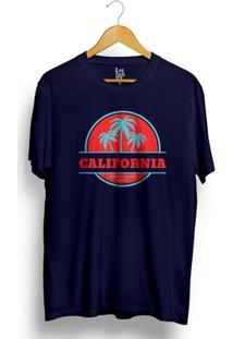 Camiseta Los Fuckers Santa Monica Azul Marinho - Masculino-Azul